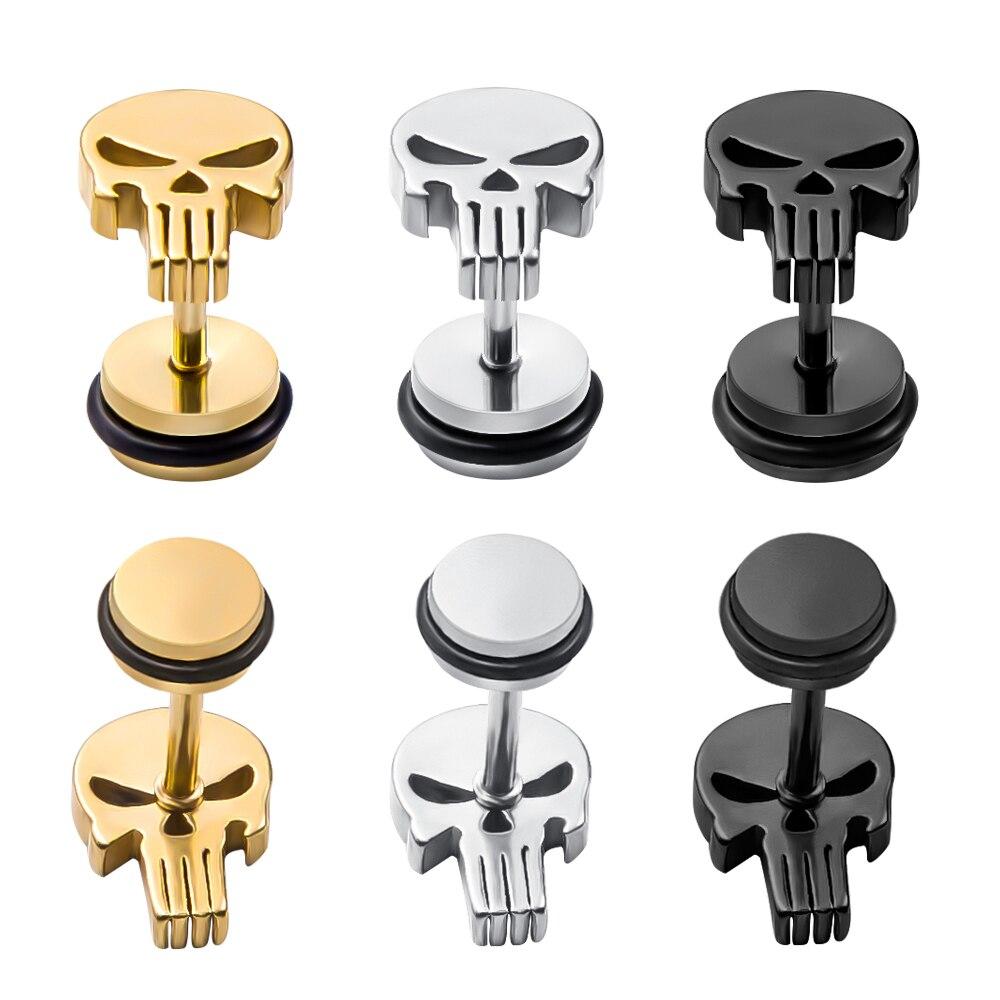 unk-Skull-Stwfewud-Earring-for-Men-Women-Cool-Skeleton-Earring-Stud-Punisher-Skull-Ear-Piercing-Jewelry