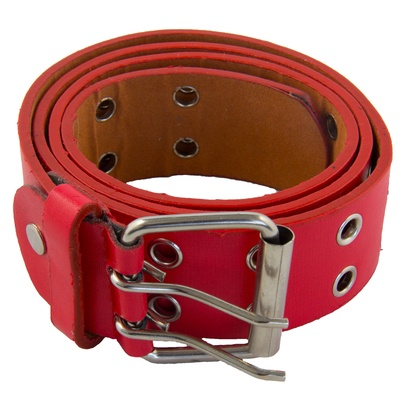 leather_two_hole_punk_belt_red
