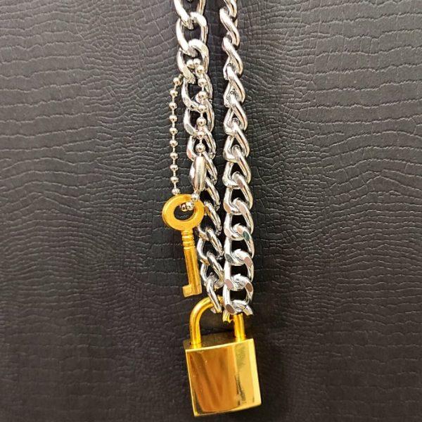 گردنبند-طرح-قفل-کلید
