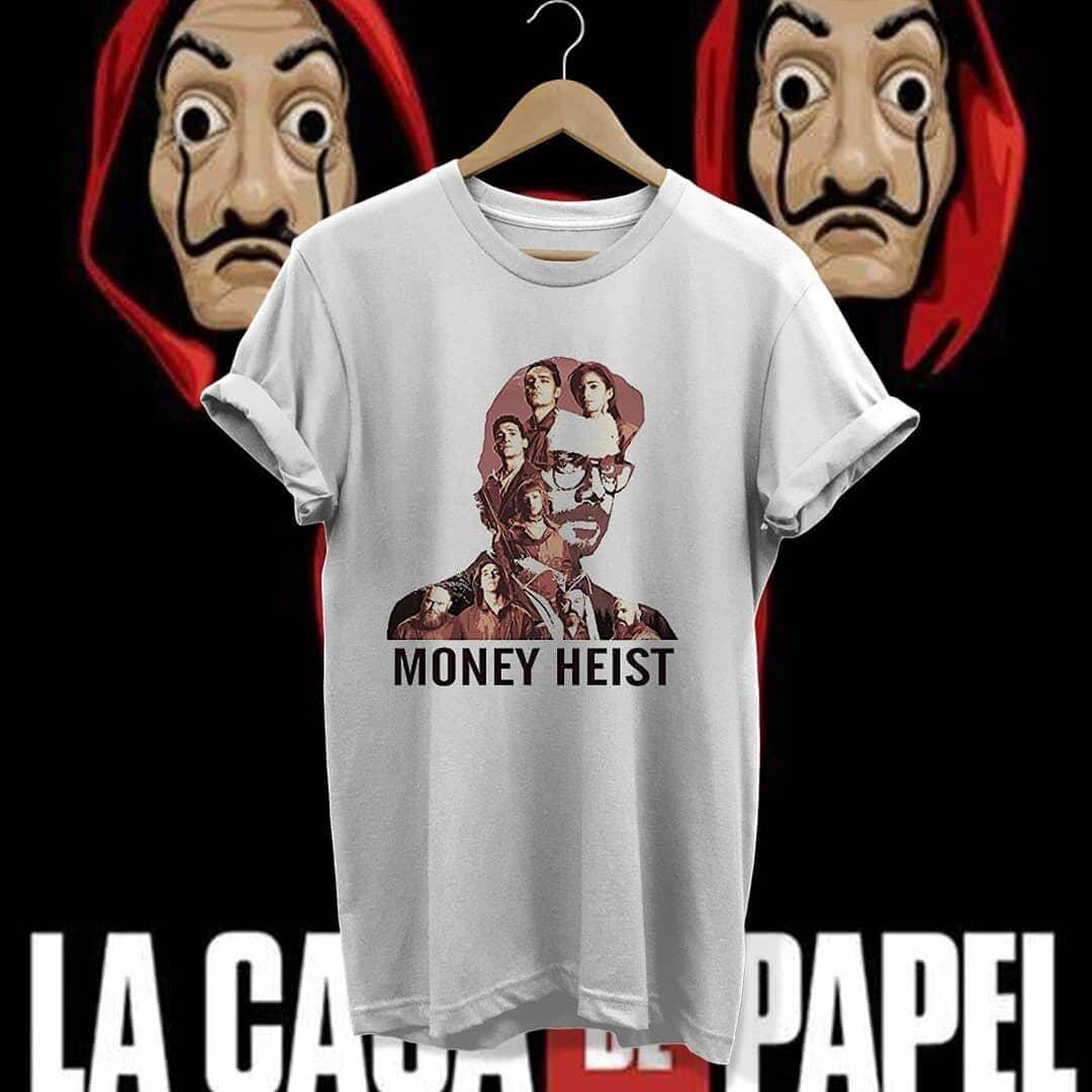 تیشرت طرح money heist